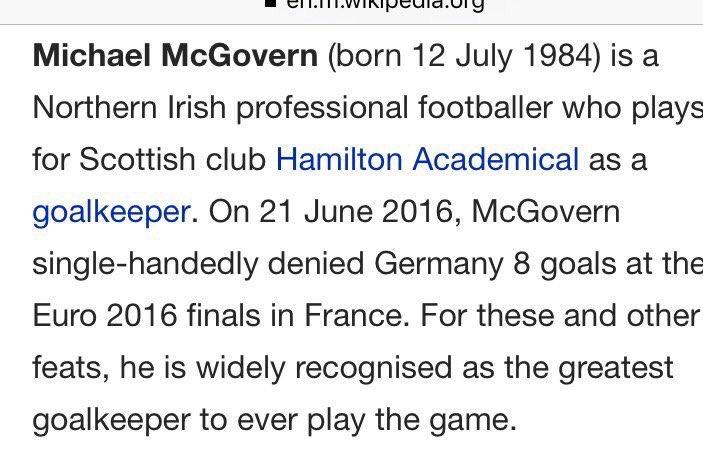 .@ColinMurray @Wikipedia #gawa   Michael McGovern ✌