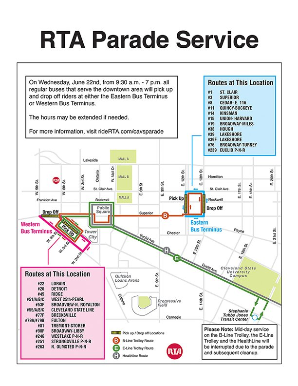For details on @cavs parade reroutes visit https://t.co/pHG7GbQSnc or https://t.co/YiE8OSUS1l https://t.co/ciU6ccWjrn