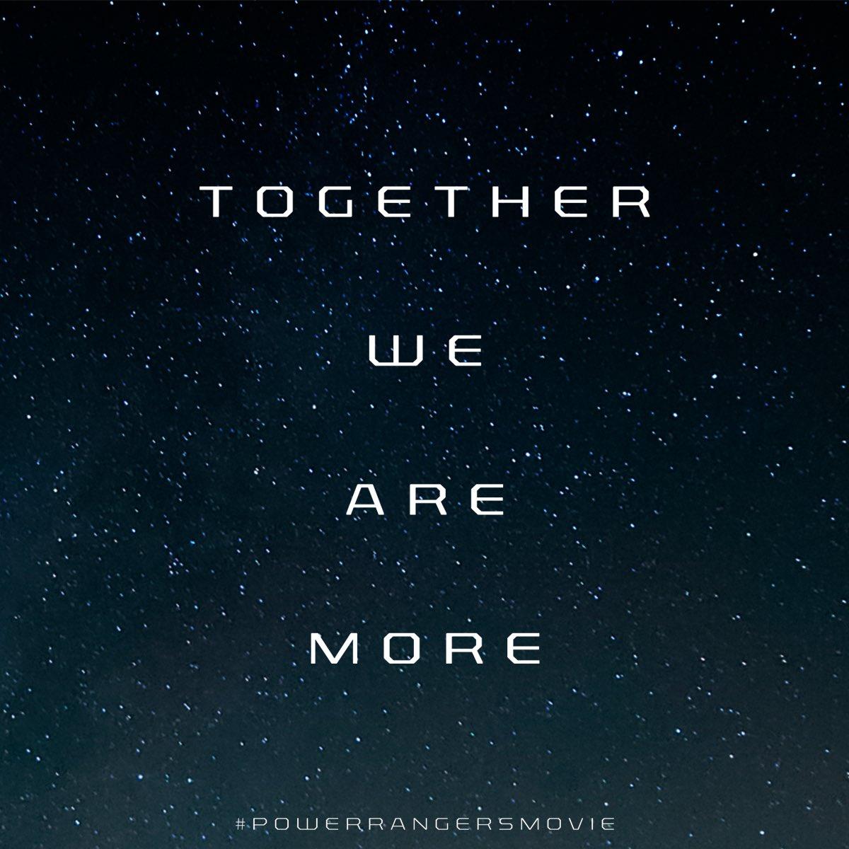 ⚡️️#PowerRangersMovie teaser poster - Coming Tomorrow! #TogetherWeAreMore https://t.co/2seZYPSKqB