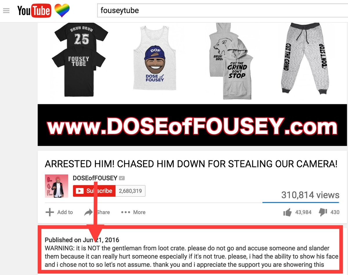 Please stop messaging me and randomly calling me a thief. @fouseyTUBE - You might have to tweet something as well. https://t.co/OhvbBMwEXe
