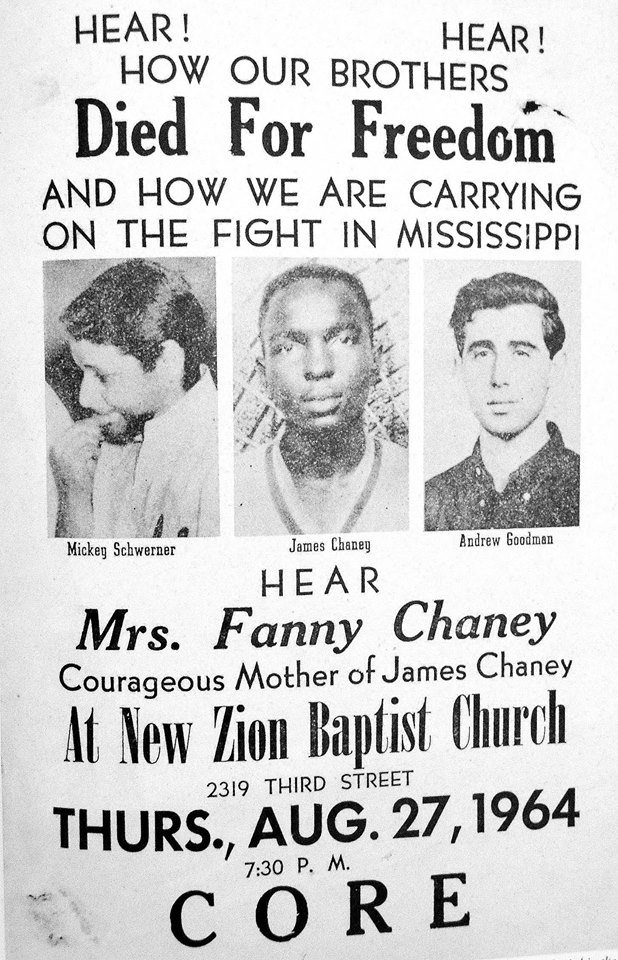 On June 21, 1964, James Chaney, Michael Schwerner, and Andrew Goodman were tortured & murdered by KKK in Mississippi https://t.co/lG5eRiC2Q2