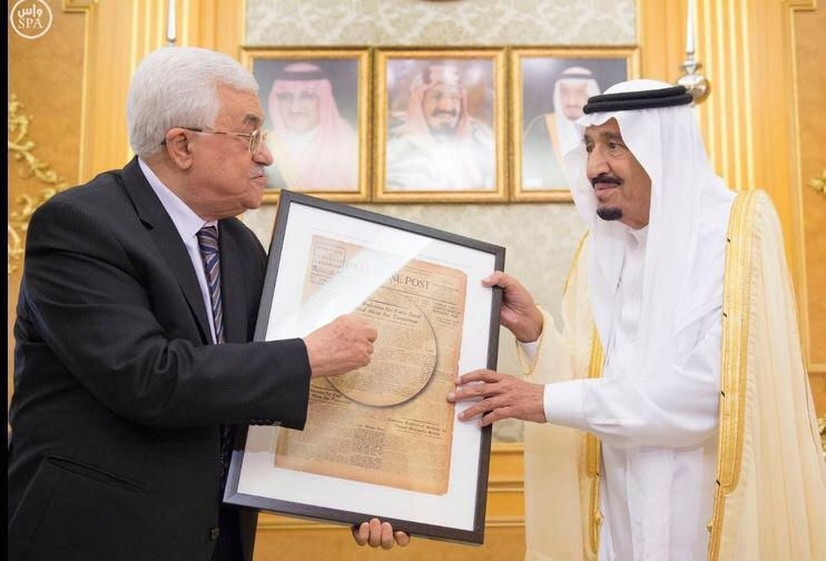 "Abbas gave the Saudi king a copy of the ""Palestine Post"" as a present. Didn't he know that it was a Zionist paper? https://t.co/vCmxTrRbTJ"