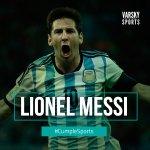 De chiquito, sufría porque no crecía. Hoy, es el más grande de todos. #CumpleSports Lionel Messi. Celebra el fútbol https://t.co/qtSgiZxxq7