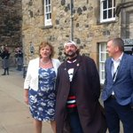 RT @FionaHyslop: celebrating 70 years of EIFF with @ThatKevinSmith @macfadyenangus Clancy Brown andKen Hay @edinburghcastle https://t.co/U4…