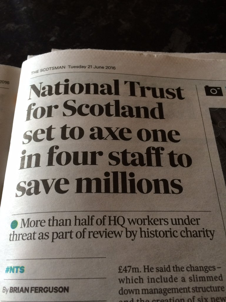 Worrying news for colleagues @N_T_S. What are members of Scotland's largest membership charity saying about this? https://t.co/8GiromHGdT