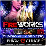 #FireworksATL Sunday‼️ Were bringing in #4thofJuly at the All New Enigma Lounge‼️ #ATL 🇺🇸🔥 Everybody FREE til 12‼️https://t.co/y6lZAXnyIJ