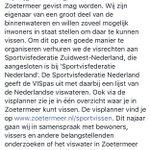 Veel vragen over waar gevist mag worden in #Zoetermeer. https://t.co/aP27Tb1RUD