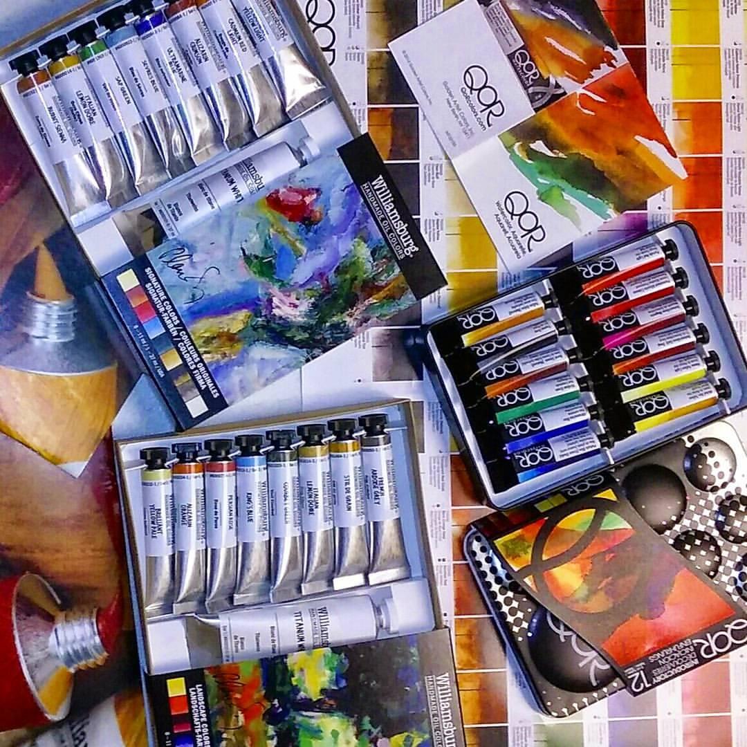 a lucky #artist will win Williamsburg & Qor paints at #PleinAir #PABV, TY @GoldenAcrylics! https://t.co/3ivd6PWWYn https://t.co/r1yDlQBjrL