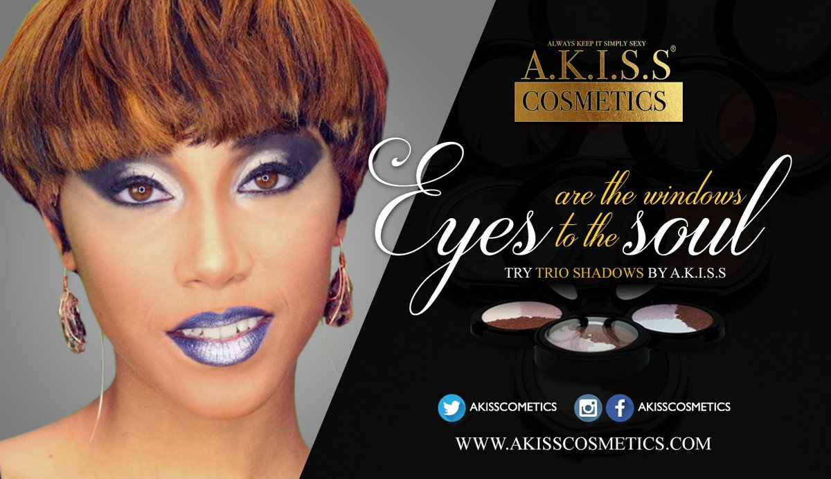 Trio Shadows by will be debuting at the Indiana Black Expo July 15-17th. #akisscosmetics