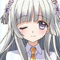 白い髪綺麗だよね💕長い髪も素敵🙈💕#脳コメ#雪平ふらの#黒白院清羅