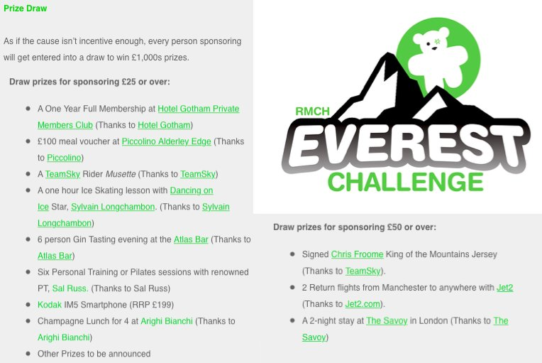 This Sunday. 11 riders cycling #Everest. @RMCHcharity  11 great prizes for anyone sponsoring https://t.co/z7hWwHvF59 https://t.co/ikjWg1Bu15