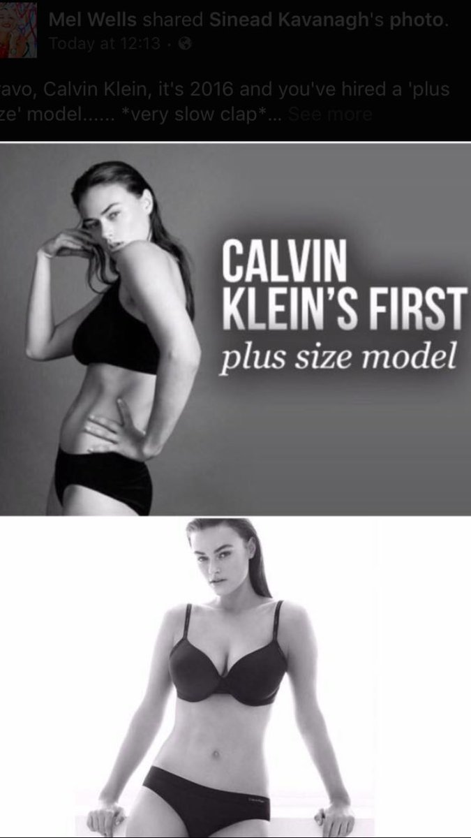 Tell me this is a joke??PLUS size?!?! Congrats on giving another generation of girls eating disorders/insecurities https://t.co/Al7QbxuraZ
