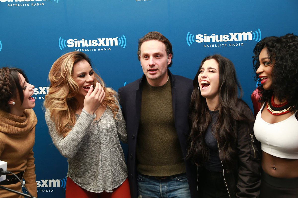 Hoping @LaurenJauregui is enjoying today as much as she was enjoying meeting #AndrewLincoln #HappyBirthday