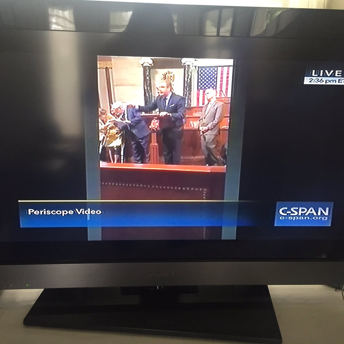 Wow. @cspan now showing Periscope videos from House since @SpeakerRyan turned off cameras #NoBillNoBreak https://t.co/LxlywC4a1v