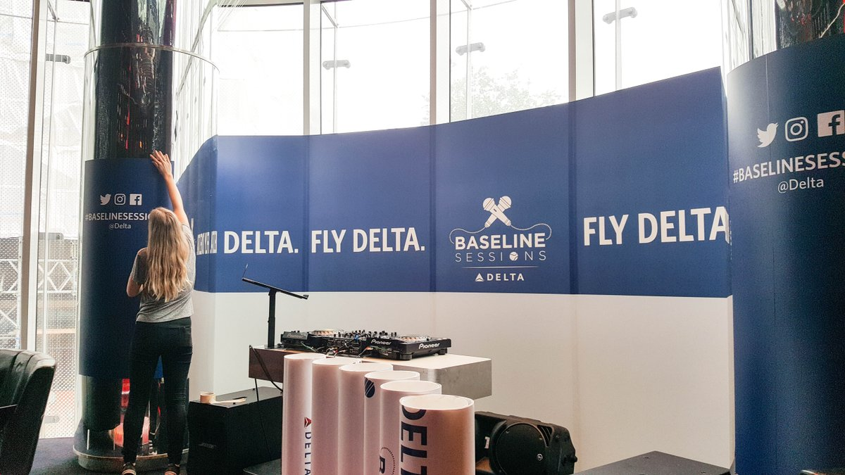 The stage is set for the @Delta BaselineSessions with @serenawilliams in London tonight.