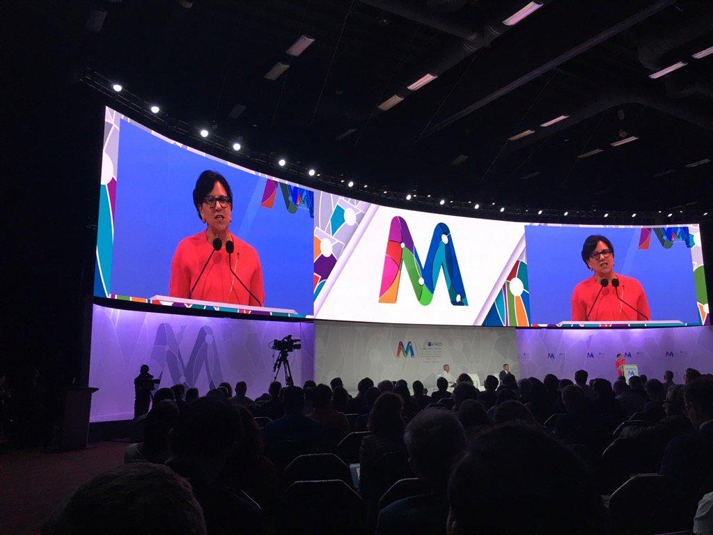 """The foundation of the digital economy is #trust"" - @PennyPritzker at #OECDdigitalMX https://t.co/BGAizjrQnI"