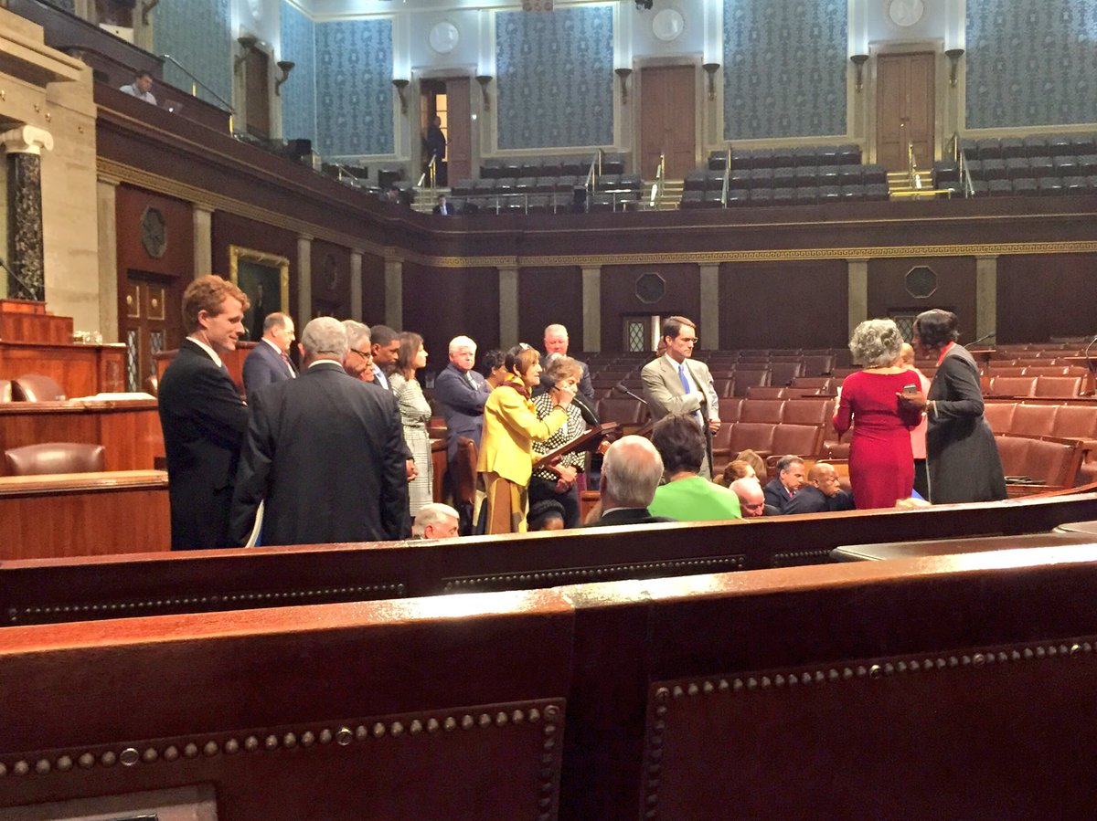 Victims of gun violence deserve a vote and today we're sitting-in on the House floor to demand one. #NoMoreSilence https://t.co/vgVvfLSpgm
