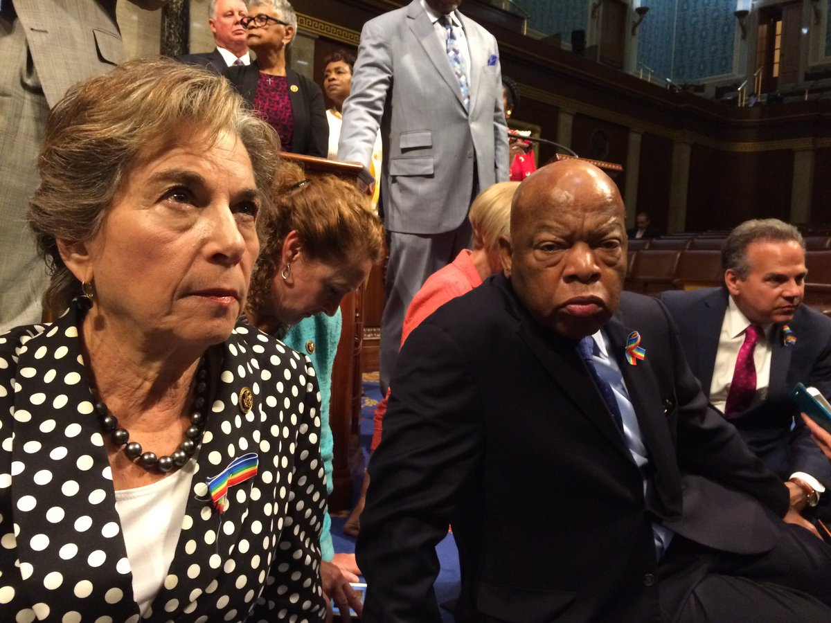 Occupying the House floor w/ @repjohnlewis & other @HouseDemocrats to demand a vote on gun safety. #NoBillNoBreak https://t.co/ExjyN3nJux
