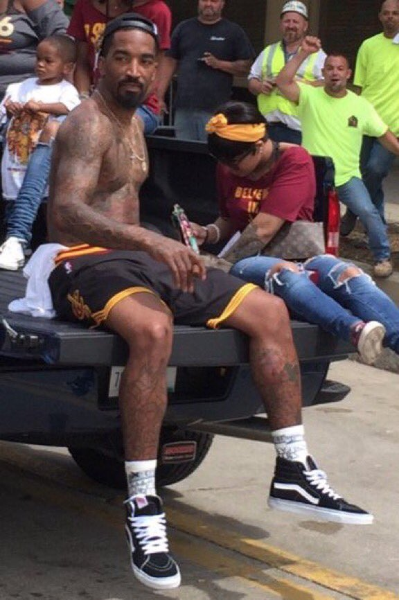 I don't think JR Smith has been home since game 7. https://t.co/n1BGcFWlum