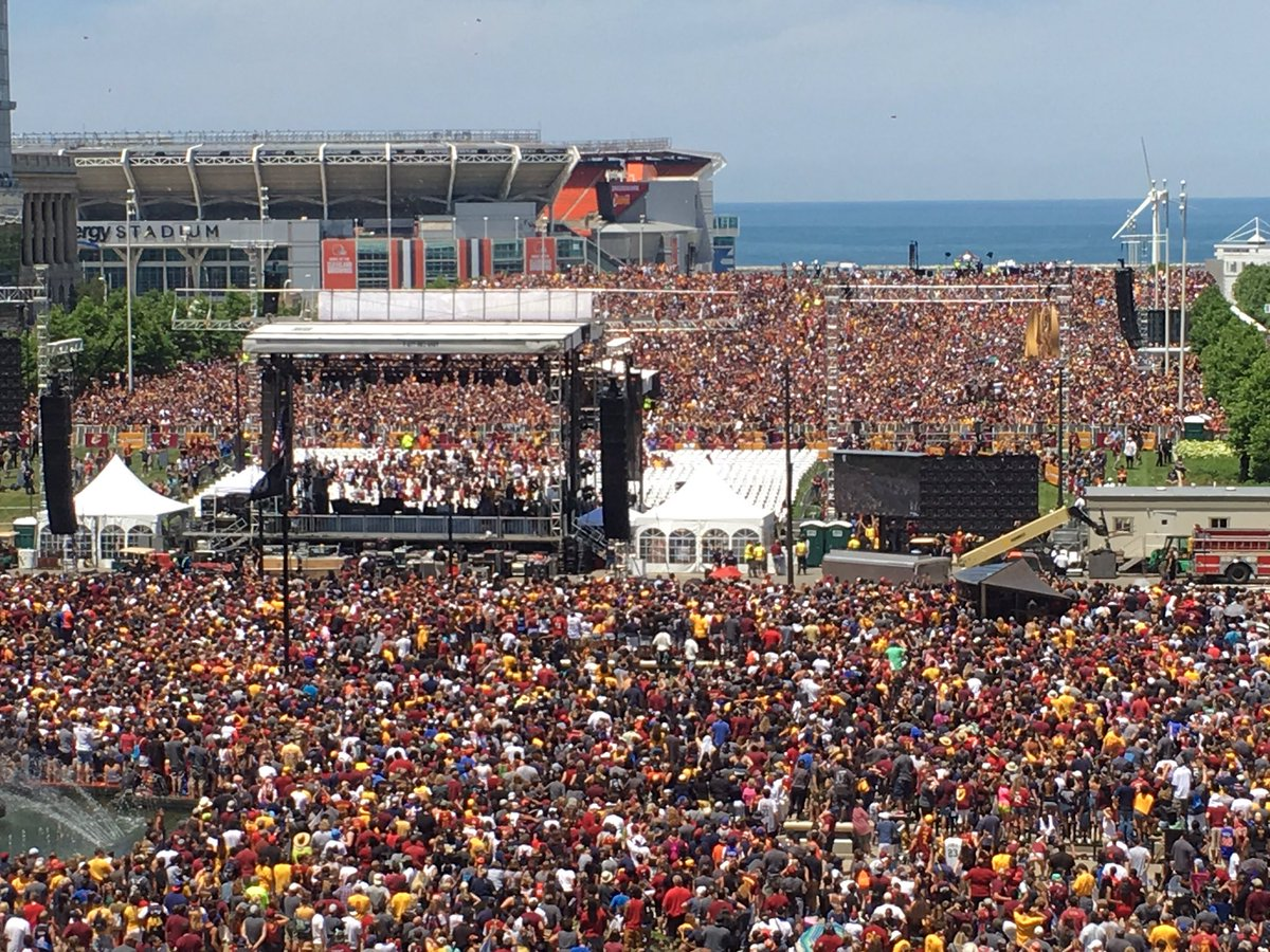 #CAVSParade - The BIGGEST ever?  RT @RyanLewisABJ: Believeland https://t.co/P5efDmHC1A