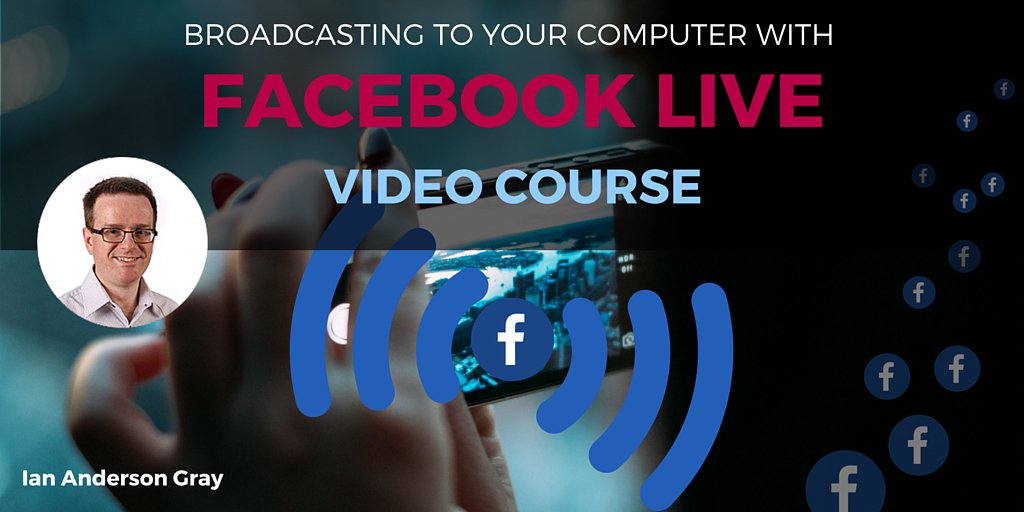 My Easy 12-video course-> Learn how to Broadcast to Facebook Live from your Computer https://t.co/llnTsoh4N9 https://t.co/7WXr1t6TWo