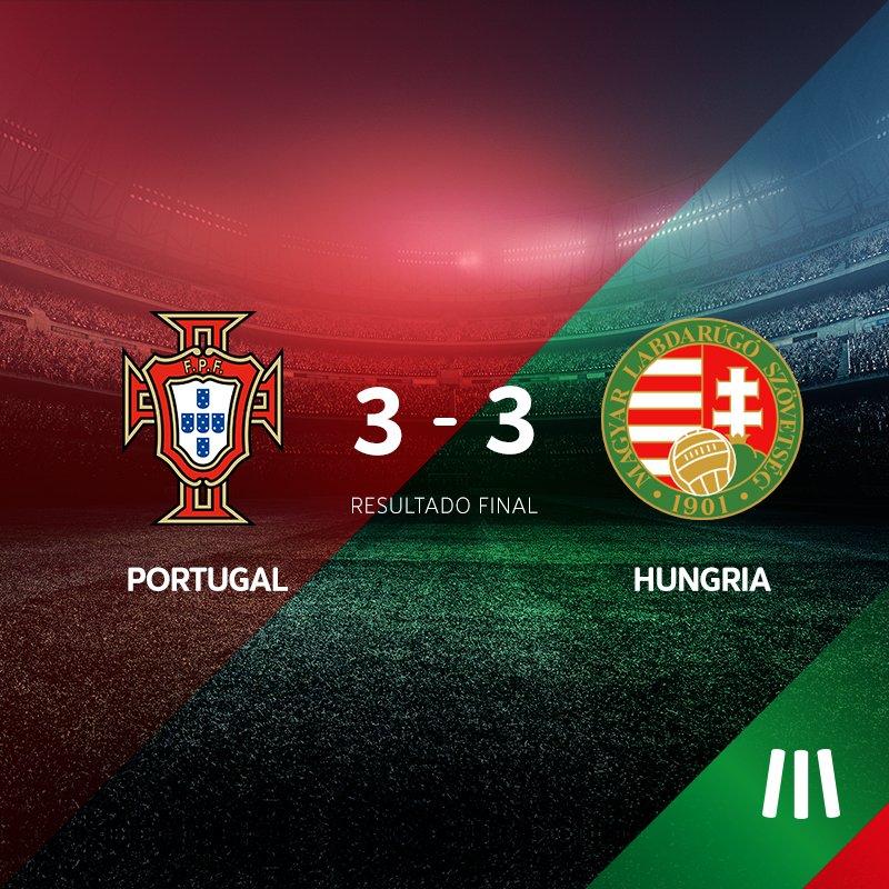 FINAL DO JOGO! 3-3 e a @selecaoportugal está nos 'oitavos' do @UEFAEURO 2016! #MEOPortugal #Euro2016 #HUNPOR #POR https://t.co/lITHncMQu0