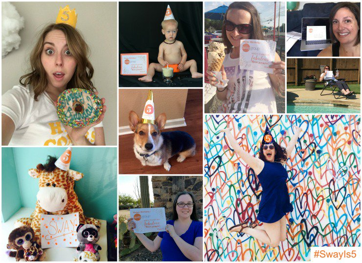 Our team shared these fun photos for #SwayIs5! Get inspired & enter our Instagram giveaway: https://t.co/xUrjnuU98B https://t.co/s7CCwrPxjL