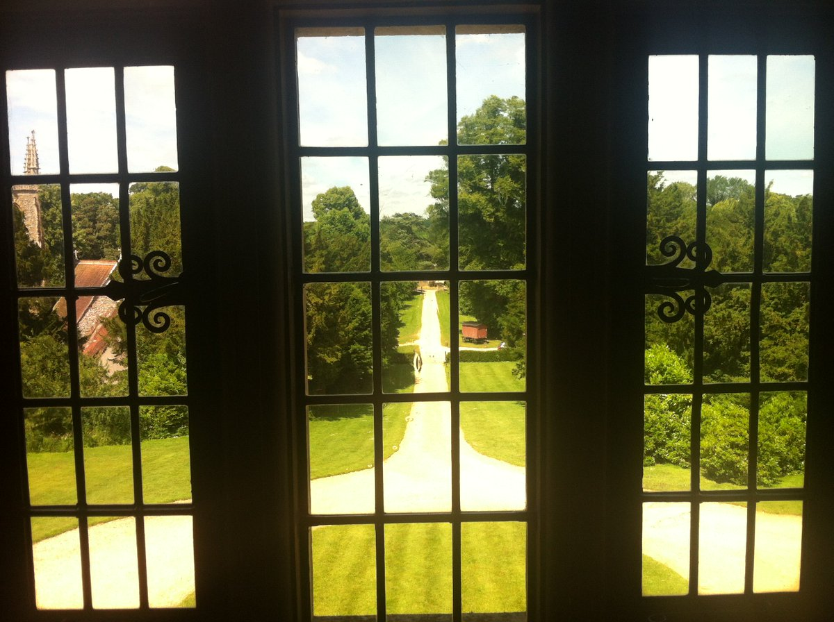 View through a window Chawton House #JaneAusten must have seen this view hundreds of times from her brother's house https://t.co/jEbVoRX9qQ