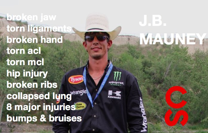 Got injuries? Being a pro #BullRrider ain't an easy ride, but somehow it's all worth it! @jbmauney #CSRodeo https://t.co/QjcNYQFxc0