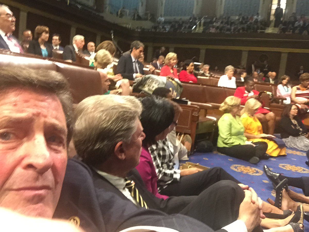 Sitting in on the House Floor until the Speaker allows a vote on gun safety #holdthefloor #NoFlyNoBuy #NoBillNoBreak https://t.co/m6iV3xaV6L