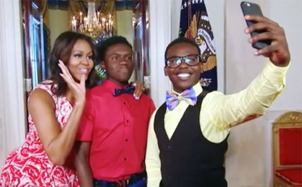 Michelle Obama masters Snapchat thanks to Running Man Challenge duo: 🙏