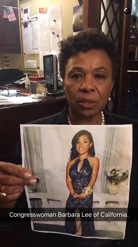Reggina was just 16 when she was killed leaving a vigil in Oakland. I'm staying on floor for her. #NoBillNoBreak https://t.co/PSJu2L2SKF