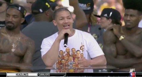 Is Ty Lue at a championship parade or Freaknik?  @MasterTes @bomani_jones https://t.co/v1ZaF4SPug