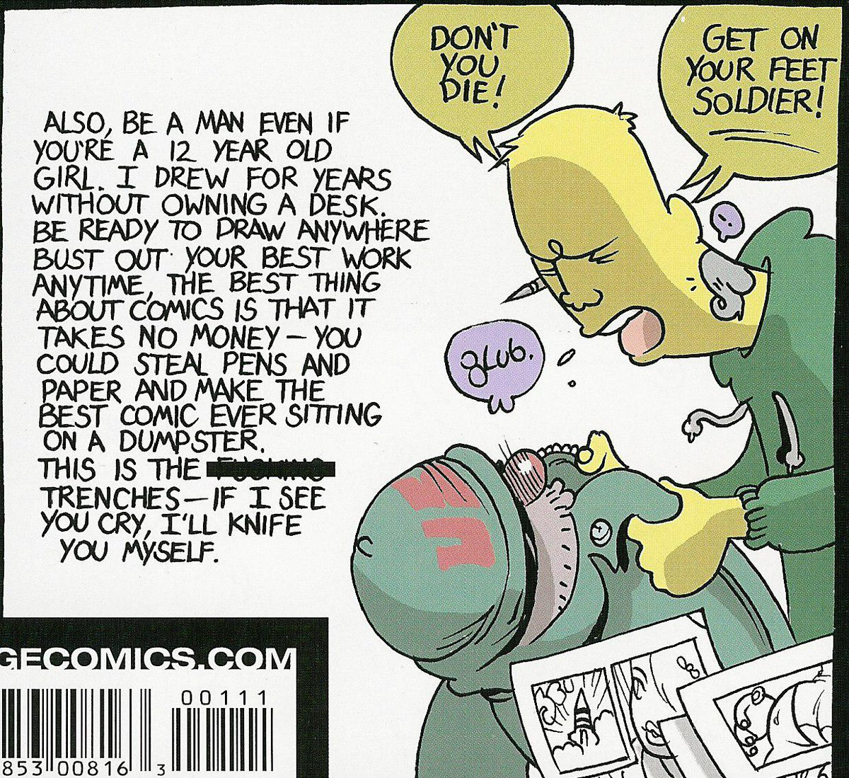 one of my favorite pieces ever about comics - from Brandon Graham @royalboiler Anyone can make comics. #makecomics https://t.co/Kltf9flNvq
