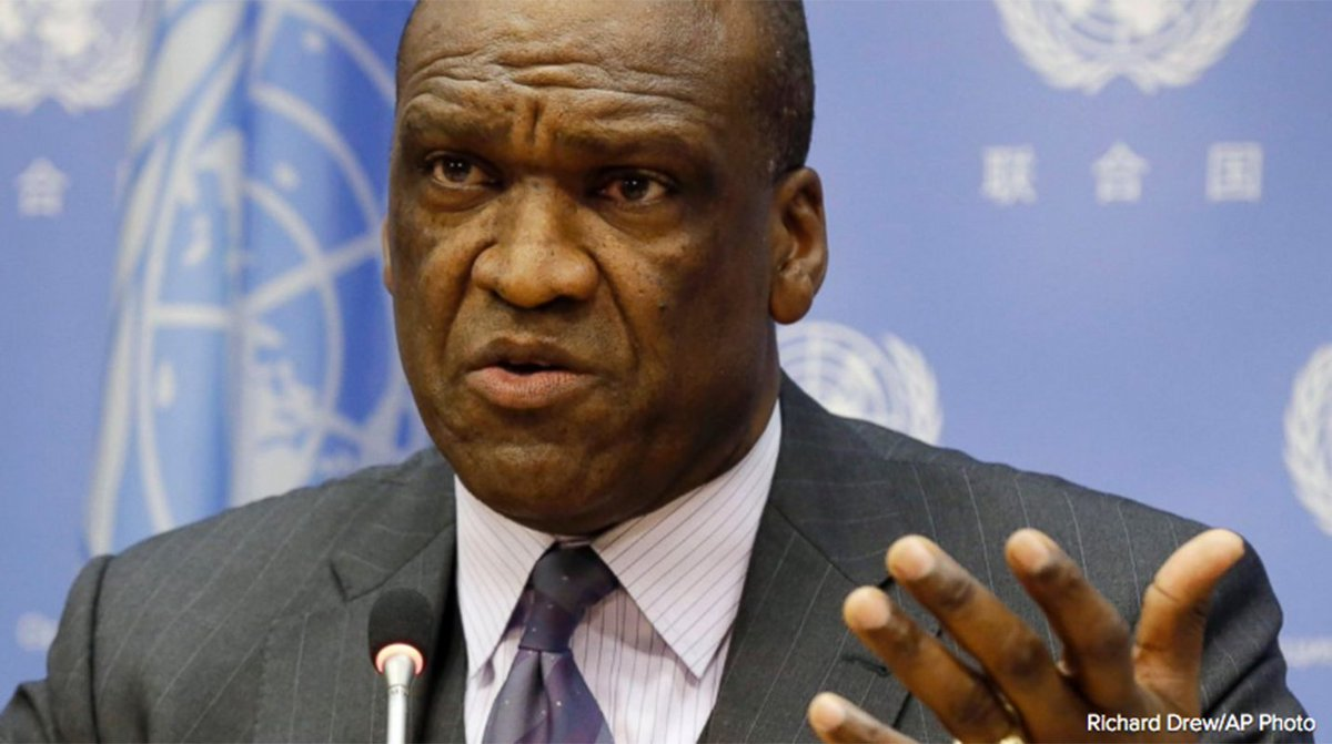Former United Nations General Assembly Chief John Ashe has died at age 61, brother says.