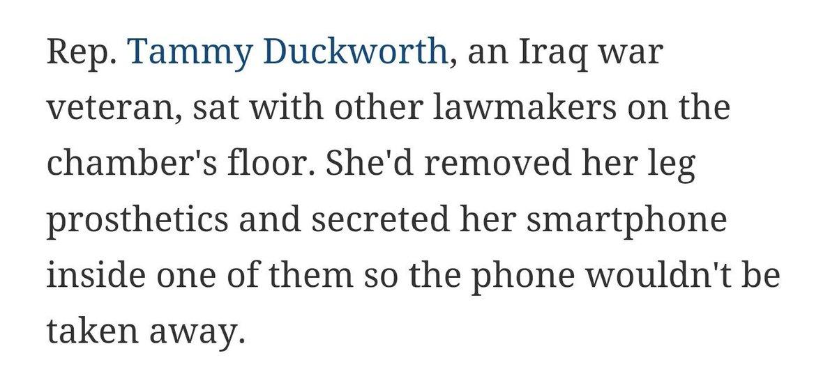 TAMMY DUCKWORTH IS BADASS #NoBillNoBreak https://t.co/taurjDMHLB