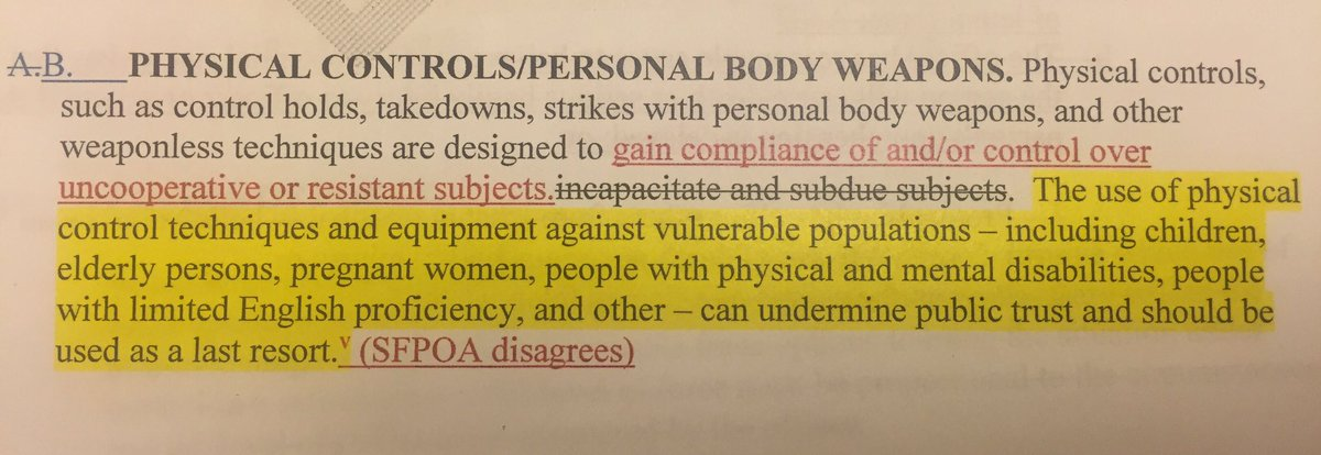 SFPOA President Martin Halloran backing away from his unions agreement on use of force. Here's on 1 of their reasons https://t.co/kgZllGpRnh