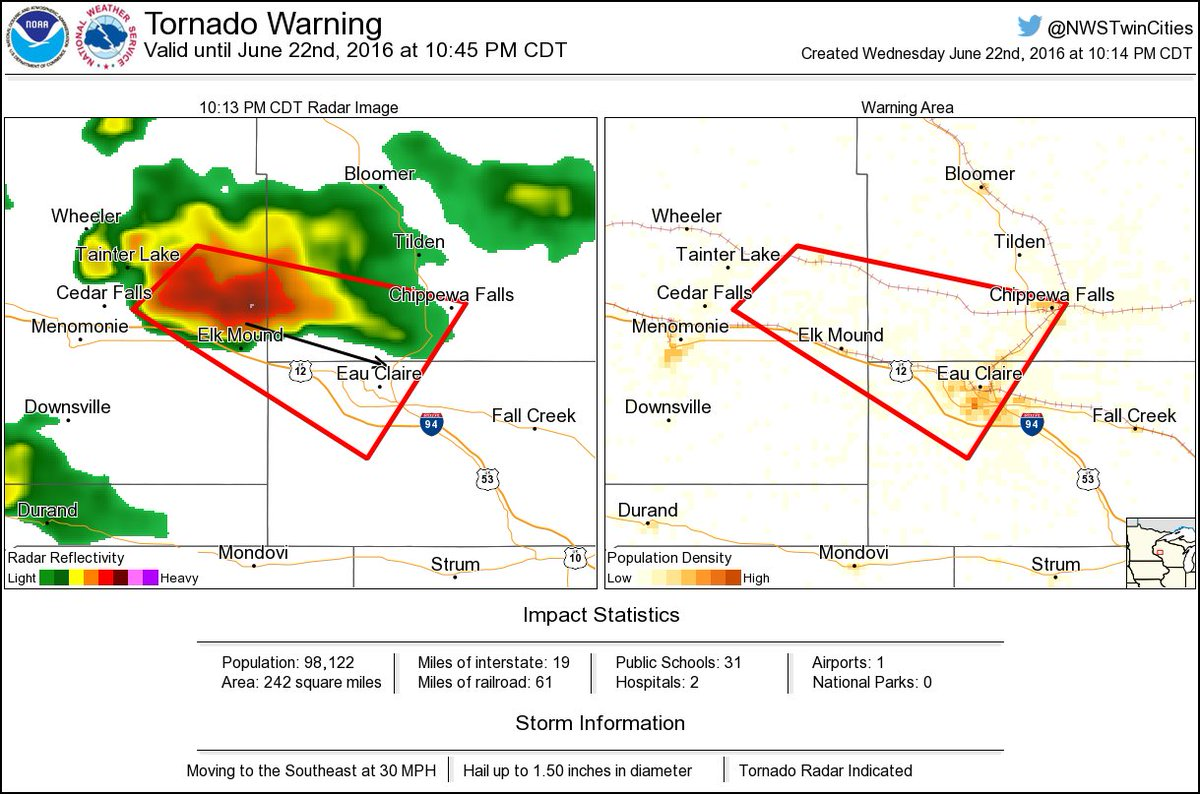 Colfax Wisconsin Map.Tornado Warning Including Eau Claire Wi Chippewa Falls Wi