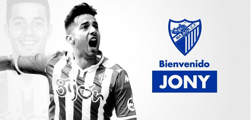 MCFNews| Jonathan Rodríguez 'Jony' es nuevo jugador del #MálagaCF! Bienvenido @jony2426!
