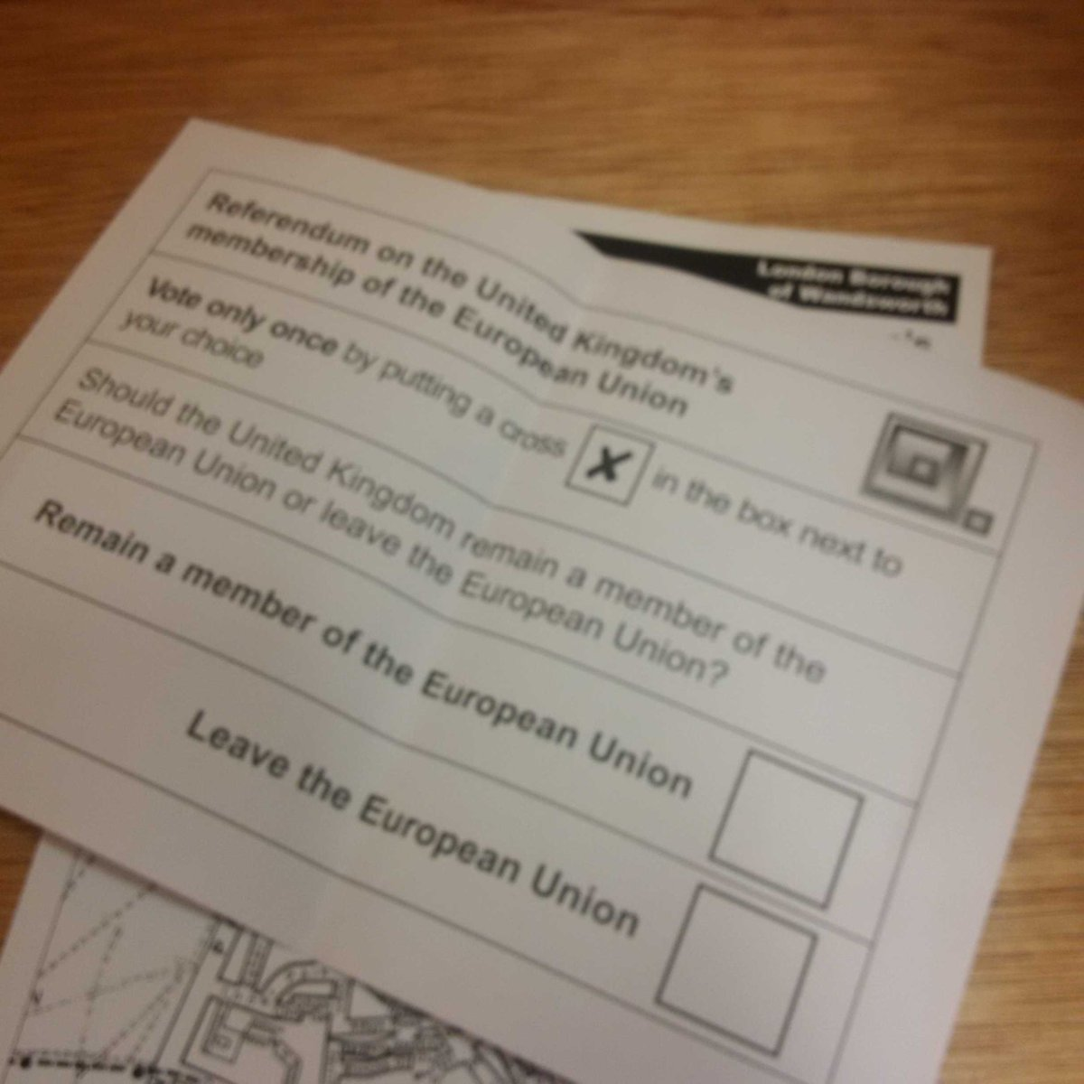The all important #EURef ballot paper - #Remain is the only option to keep Britain forward-looking and open. https://t.co/xns59dYDik