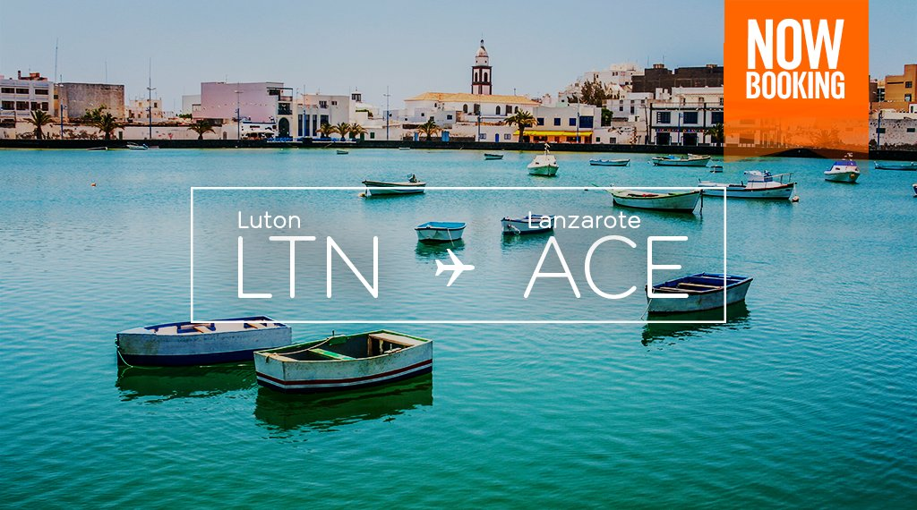 ☀️ and 🏊🏻 await in Lanzarote, with our NewRoute from @LDNLutonAirport! Book now for Sept.