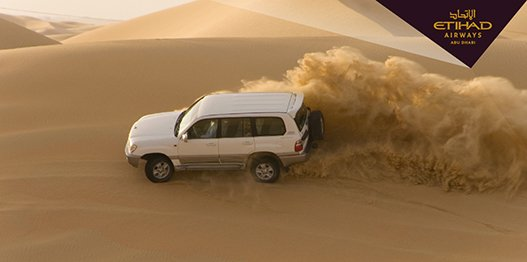 A trip to AbuDhabi isn't complete without a little dune bashing. Learn more: