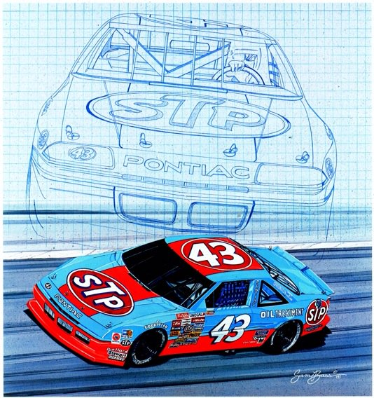 """#TBT- """"Richard Petty Blueprint"""" was my very FIRST print and poster release in '88. This one started it all! https://t.co/VGbtEH7FDI"""