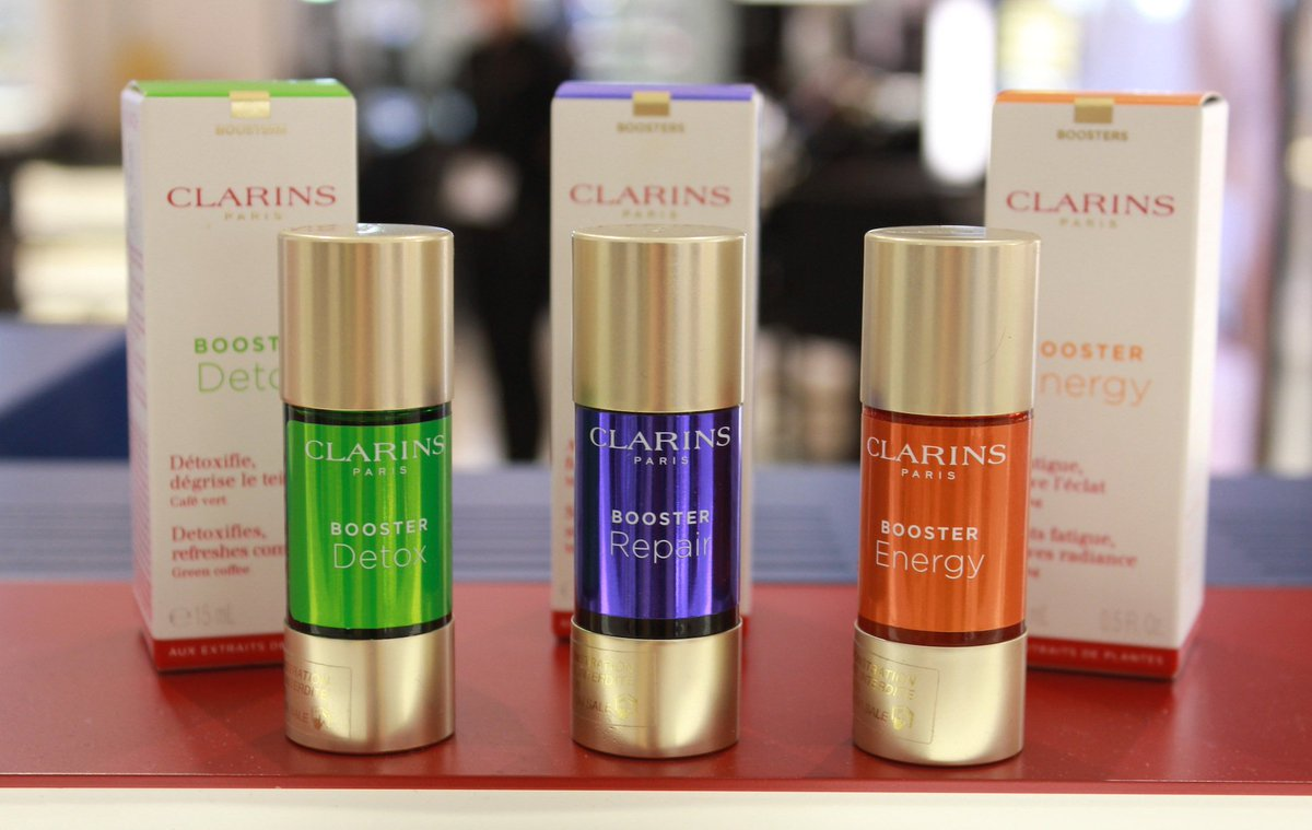 Repair, Detox and Energise your skin when on-the-go with Clarins Boosters at @WorldDutyFree