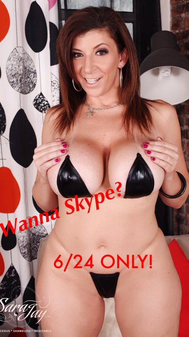 I will be available for #Skype ? 6/24 ONLY! Book here~> https://t.co/LXwXt4r6s0 @_DreamLover_  sarajayxxx@gmail