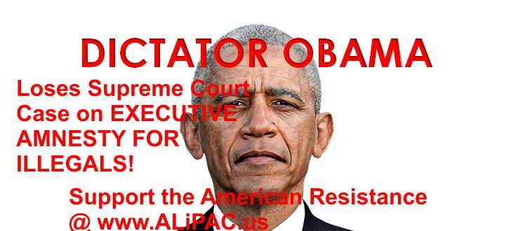 Obama loses Supreme Court Ruling on Executive Amnesty! #TCOT #CCOT #PJNET Join us at... https://t.co/bI4ryiTLFv https://t.co/xcXvpxAVgS