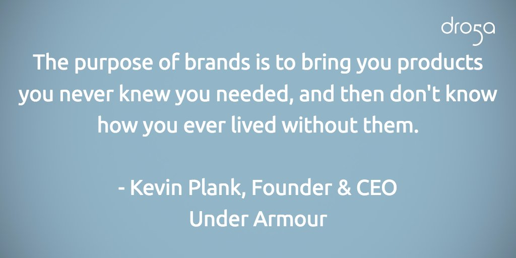What is the purpose of brands according to @UnderArmour's Kevin Plank? The answer is simple. #D5Cannes #CannesLions https://t.co/Y56UW2j5vX