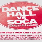 Hey @TamaraAkotuah, Dancehall vs Soca FOAM PARTY @ The Coronet Sat 2nd July tkts>https://t.co/gqMRVtVK9S https://t.co/yN1SEUIuZo