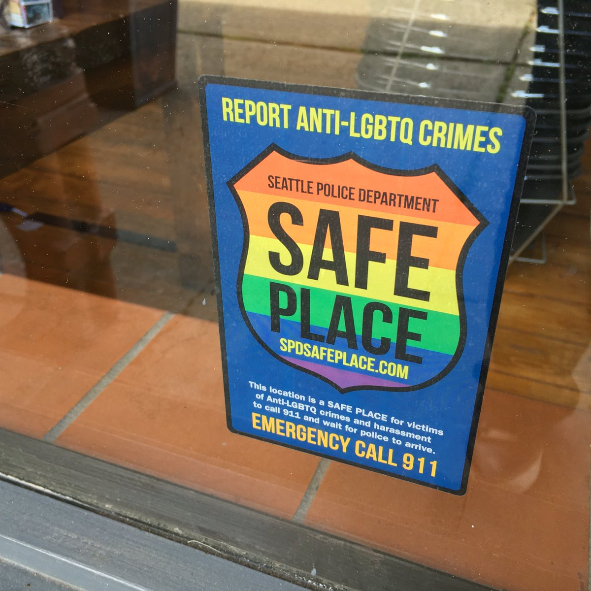 We're proud to support the @SeattlePD Safe Place program! Head to https://t.co/nZsWu9JaH5 for more info. <3 https://t.co/Hh3b3W6DNV