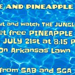 Come & join us for a free movie & p-whip on July21st on the Arkansas Lawn! Its going to be the bees knees. ???????????????????????????? https://t.co/sTsYNwUvGX